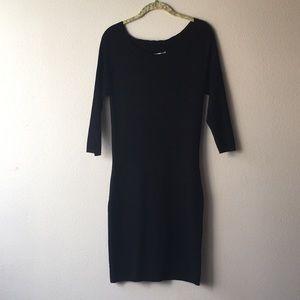 3/4 sleeve form fitting dress